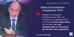 Orientations budgétaires 2019 à la Région